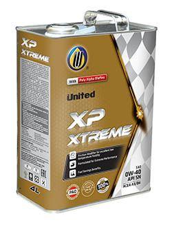 100% синтетическое моторное масло United XP Xtreme Performance со специальными добавками, которые обеспечивают текучесть при низких температурах и существенную экономию топлива.