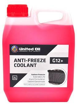 Универсальная концентрированная охлаждающая жидкость (антифриз) United Glycol-G12+ с продленным сроком эксплуатации на этиленгликолевой основе, которая работает во всех типах систем охлаждения и защищает их от коррозии