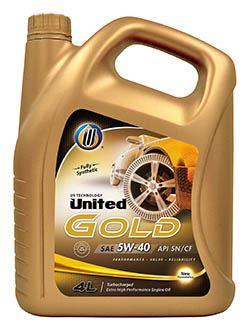 Полностью синтетическое моторное масло для бензиновых турбированных двигателей United Gold