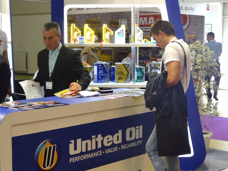 Масла United Oil на выставке MIMS Automechanika Moscow 2015