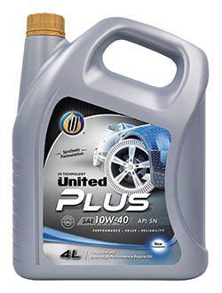 Моторное масло United Plus для легковых автомобилей превосходит многие требования стандартов контроля над составом отработавших газов современных двигателей, а также стандартов расхода масла. Улучшает топливную экономичность