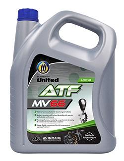 Полусинтетическая жидкость премиум класса для автоматических коробок передач United ATF MV-66, в состав которой входят отобранные синтетические базовые компоненты