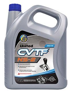 Жидкость United CVT-NS2 Fluid на основе высокоэффективных синтетических масел с добавлением тщательно отобранных добавок, специально разработана для использования в новейших поколениях бесступенчатых трансмиссий (вариаторах)