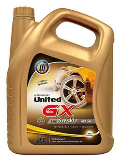 Полностью синтетическое моторное масло для легковых автомобилей United GX отвечает самым современным характеристикам уровня производительности API SN и обеспечивает максимальную защиту современных бензиновых двигателей