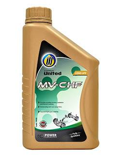 United MV-CHF is specially-formulated with selected high viscosity index synthetic base stock, PAO and chemical additives to meet various passenger car and commercial vehicle performance demands