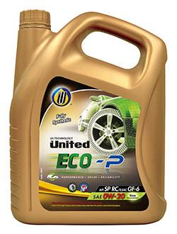 100% синтетическое моторное масло United ECO-P для легковых автомобилей с высокими эксплуатационными характеристиками, обеспечивающее максимальную защиту двигателя и экономию топлива.