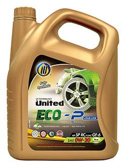 Полностью синтетическое моторное масло премиум-класса United ECO-P Long Life для легковых автомобилей, с полиальфаолефинами (ПАО) высшего качества, защищает двигатель от износа и образования отложений.
